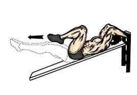 incline knee raise